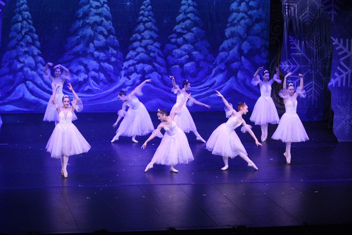 Snowflakes dance for Clara in the Land of Snow in the Royal City Youth Ballet's performance of 'The Nutcracker' at the Cowichan Performing Arts Centre on Saturday, Dec. 7. (Andrea Rondeau/Citizen)